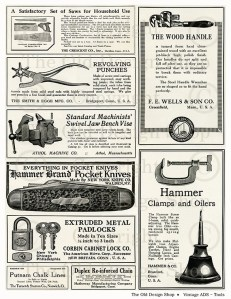 vintage advertising, handyman tools, antique tools, vintage ad tools