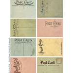 vintage ephemera, french invoice, french receipt, digital collage sheet, printable ATC, altered vintage postcard, old postcard backs