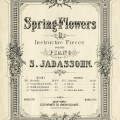 vintage sheet music, spring flowers, music sheet cover, digital graphics, sheet music image