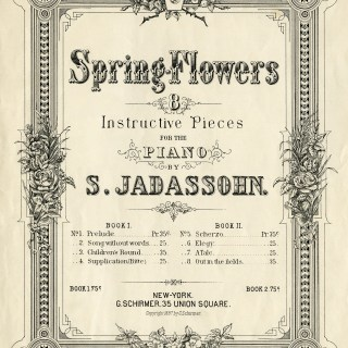 Free Vintage Image ~ Spring Flowers Sheet Music Cover