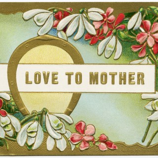 Free Vintage Image ~ Love to Mother Floral Postcard