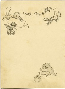 edith truman woolf, vintage baby clipart, shabby book page, free digital graphics, antique baby image