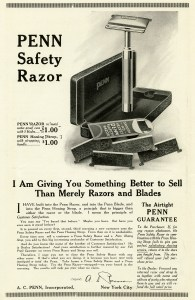 penn razor, vintage magazine ad, razor clipart, old fashioned advertising, free digital graphics