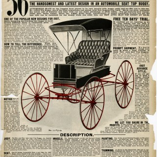 victorian transportation, auto seat buggy, sears roebuck catalogue, horse carriage clipart, aged book page