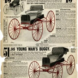 Free Vintage Image ~ Horse Buggies 1907