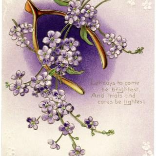 Free Vintage Image ~ Wishbone Postcard