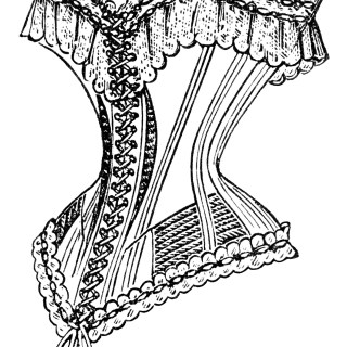 Free Vintage Image ~ French Corset Clip Art