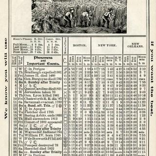 Free Vintage Image ~ Herrick's Almanac 1906, August