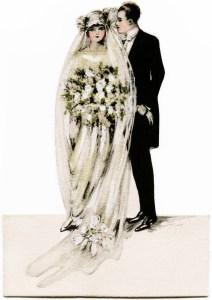 Victorian bride and groom, vintage wedding clipart, antique wedding graphics, printable bride groom, old fashioned wedding card