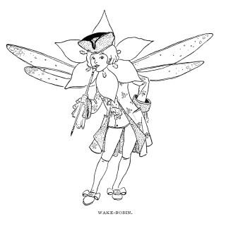 Free Vintage Image ~ Wake Robin Storybook Character