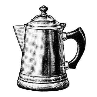 Free Vintage Image ~ Coffee Pots Clip Art