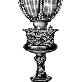 Brass Banquet Lamp ~ Free Vintage Image