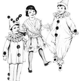 Free Vintage Image ~ Children in Halloween Costumes