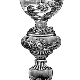 Free Vintage Image ~ Decorated Banquet Lamp No. 2