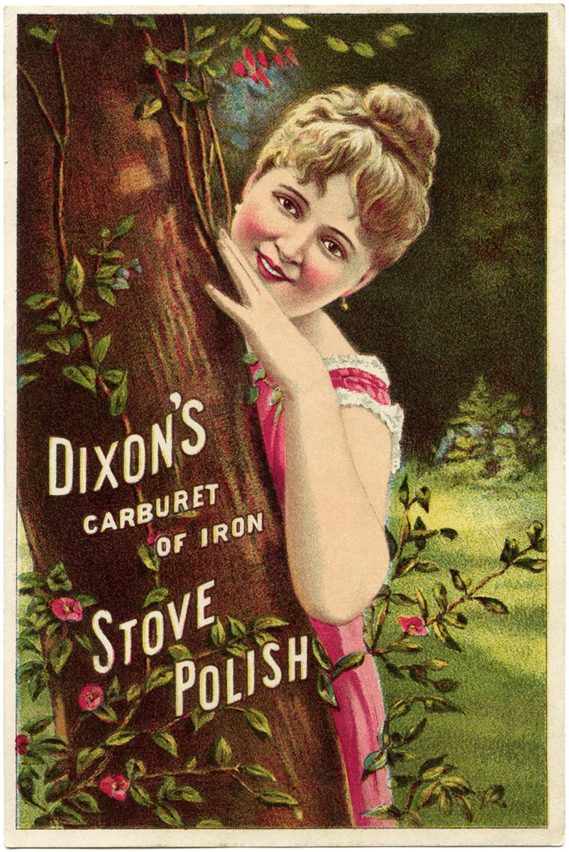 dixon u0026 39 s stove polish victorian trade card