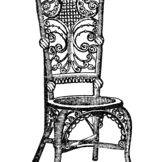 Ornamental Reception Chair Clip Art
