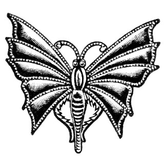 Free Vintage Image ~ Butterfly Chatelette Pin