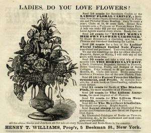 vintage flower clipart, free black and white clip art, antique magazine advertisement, vase of flowers image, floral engraving
