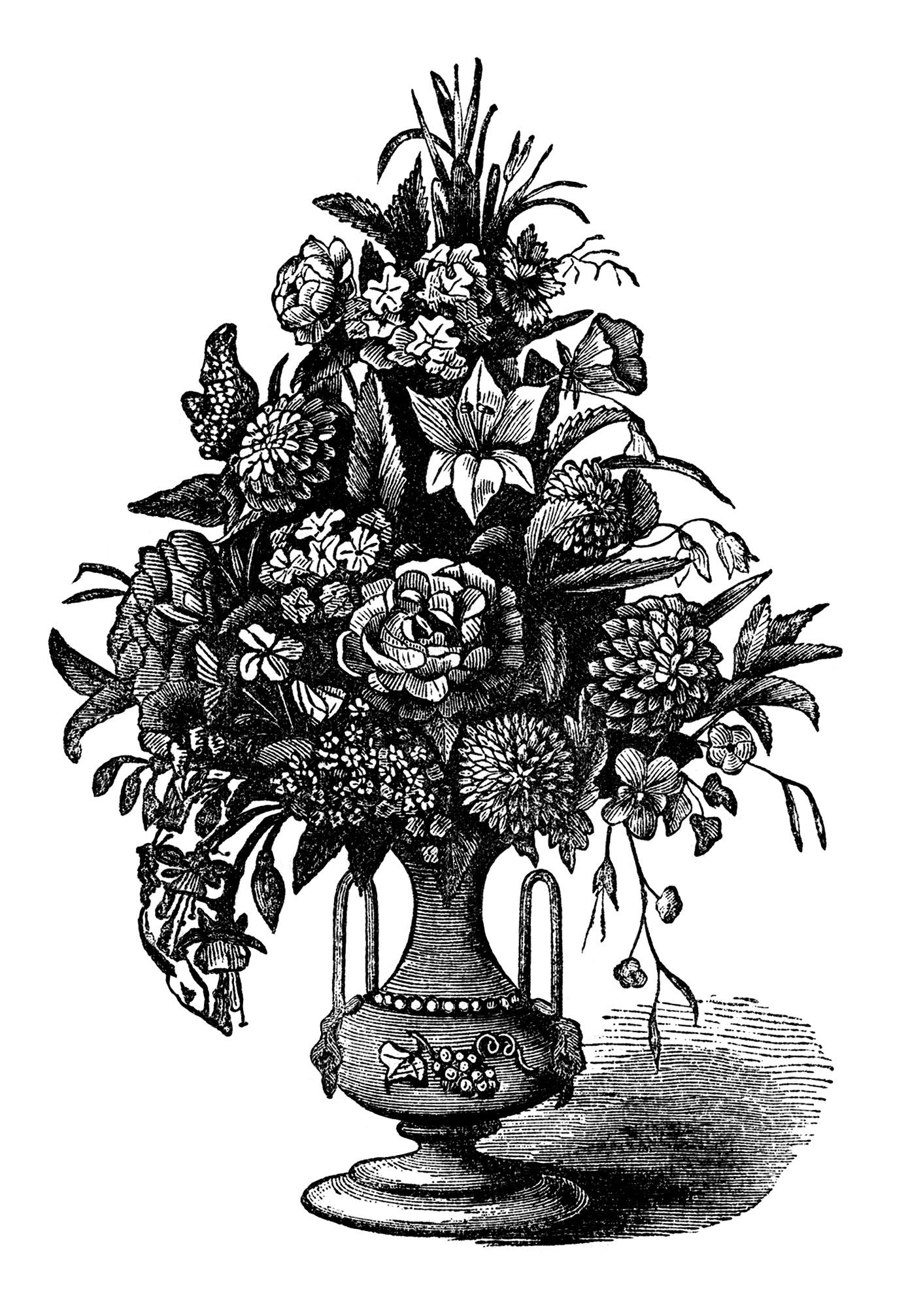 free vintage flowers ad