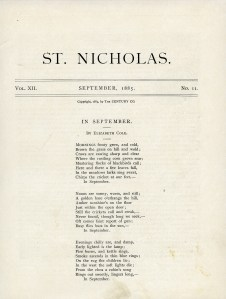 In Setpember poem, Elizabeth Cole poetry, old book page, free vintage ephemera, digital download shabby paper