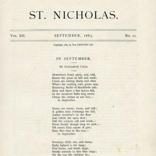 In September Poem by Elizabeth Cole