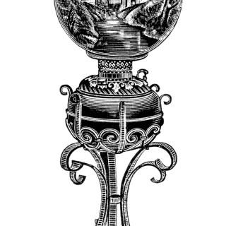 Free Vintage Image ~ Iron Banquet Lamp