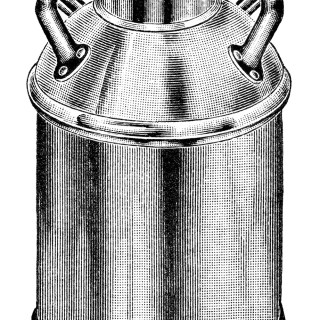 Free Vintage Image ~ Gem Pattern Milk Can Clip Art