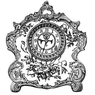 Free Vintage Image ~ Porcelain Clock Clip Art