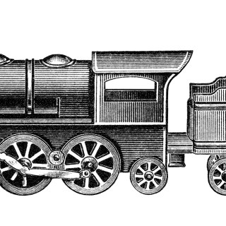 Free Vintage Image ~ Toy Train Clip Art