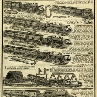 Toy Trains Aged Catalogue Pages