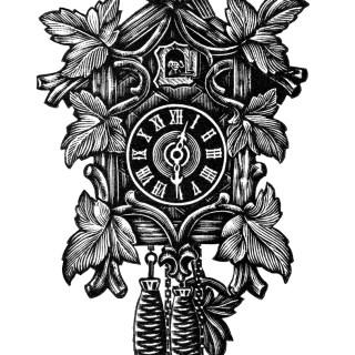 Vintage Cuckoo Clock ~ Free Clip Art