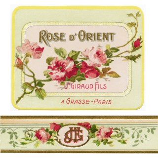 Free Vintage French Perfume Label Graphic ~ Rose D' Orient