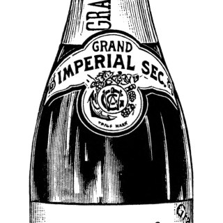 Free Vintage Champagne Graphics ~ Magazine Ad and Clip Art