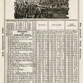 Free Vintage Image ~ Herrick's Almanac 1906, October