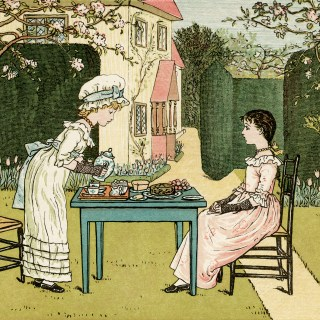 Vintage Tea Party ~ Kate Greenaway Illustration