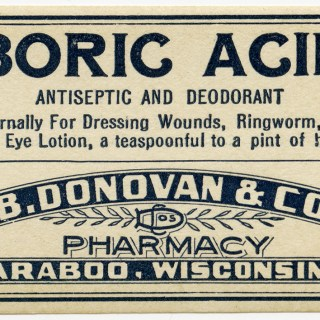 Vintage Boric Acid Pharmacy Label ~ Free Graphic