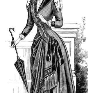 Free Vintage Image ~ Victorian Ladies' Costume Elegant Dress
