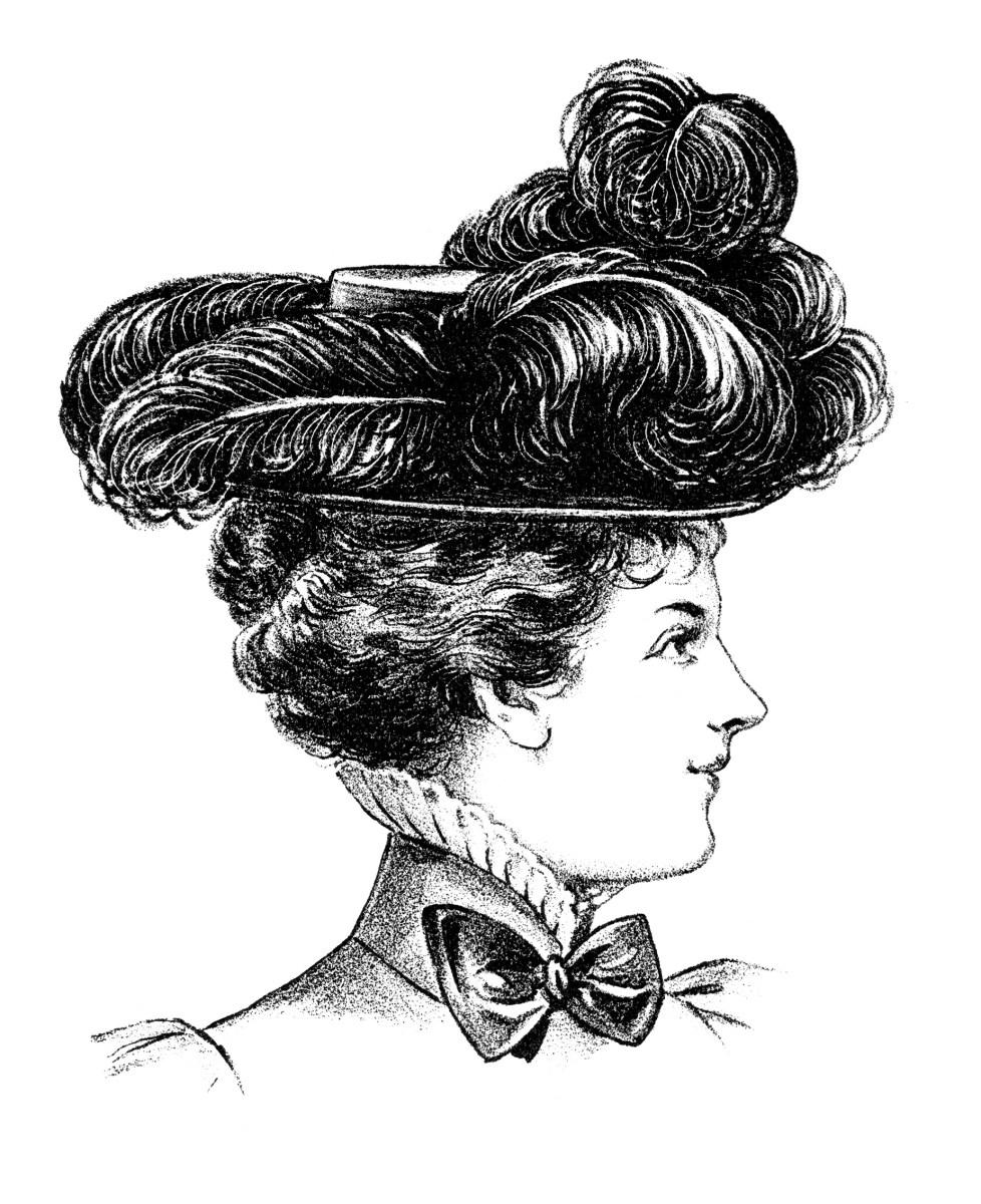 free black and white victorian clip art - photo #16
