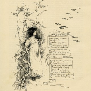 Old Fashioned October Poem and Illustration ~ Free Download