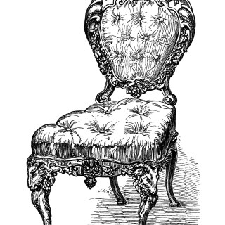 Antique Chairs ~ Free Clip Art Engravings