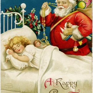 Santa Delivering Gifts by Ellen Clapsaddle