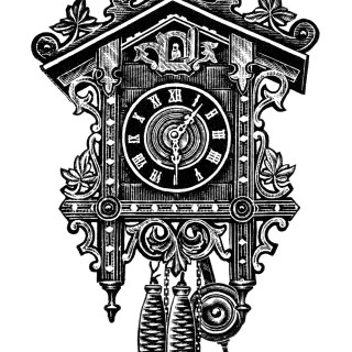 Antique Cuckoo Clocks ~ Free Clip Art