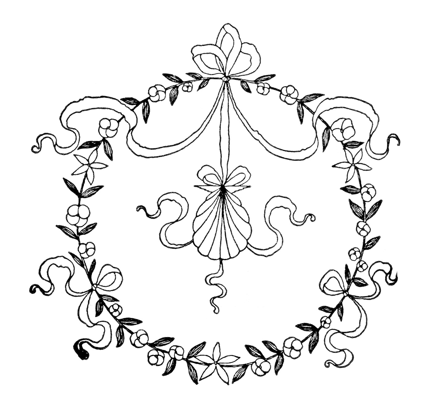 Free clipart vintage embroidery designs old design