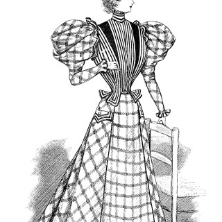 French Victorian Lady ~ Free Clip Art