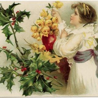 Admiring Roses Christmas Image