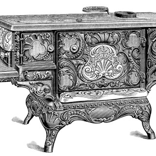 Old Stove Catalogue Page and Clip Art