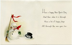 vintage snowman clipart, old fashioned new year card, vintage winter graphic, snowman straw broom