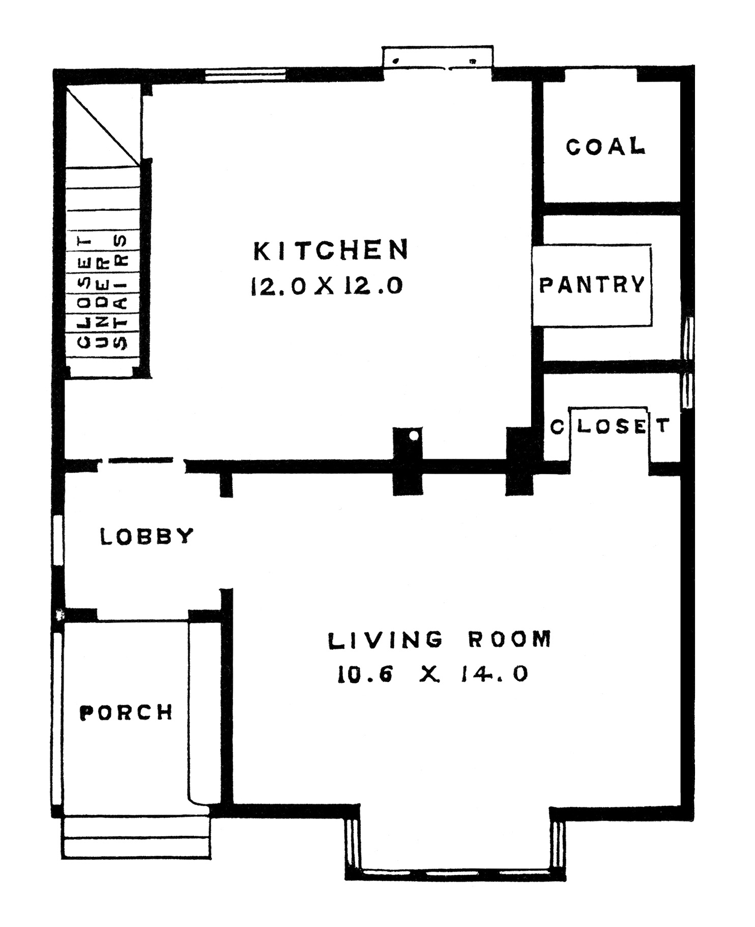 Two Story Victorian Cottage Free Clip Art Image on Cottage House Plans Open Floor Plan
