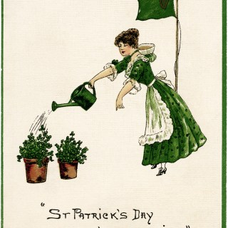 St. Patrick's Day in the Morning ~ Free Vintage Postcard Image
