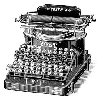 Antique Yost Typewriter ~ Magazine Ad and Clip Art